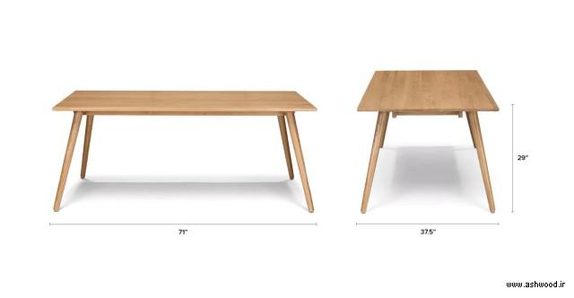 صفحه تمام چوب بلوط , میز ناهار خوری , میز چوب بلوط