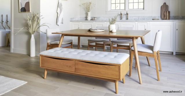 میز ناهارخوری چوبی , میز ناهار خوری , میز چوب بلوط