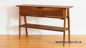 میز کنسول تمام چوب گردوآنتیک + قیمت