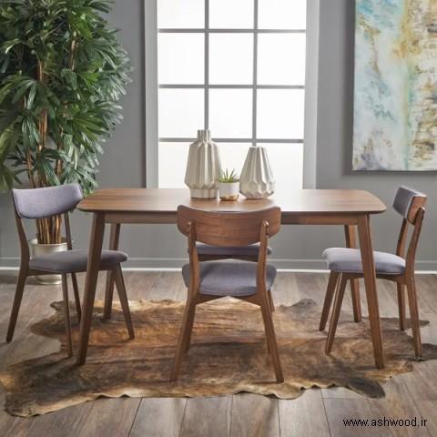 میز ناهار خوری , میز چوب بلوط