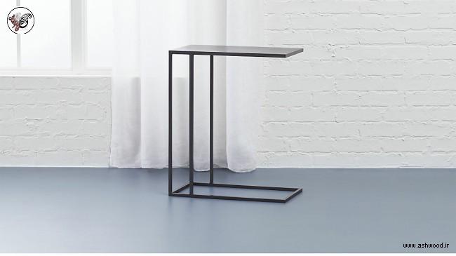میز C شکل , میز منحنی , میز روی مبل , میز هک جلو مبلی