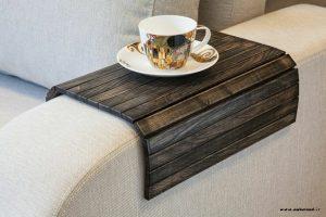 ایده میز چوبی کنار مبلی , میز برای دسته مبل