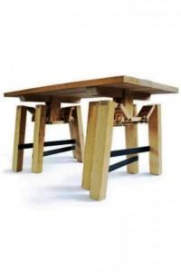میز متحرک چوبی
