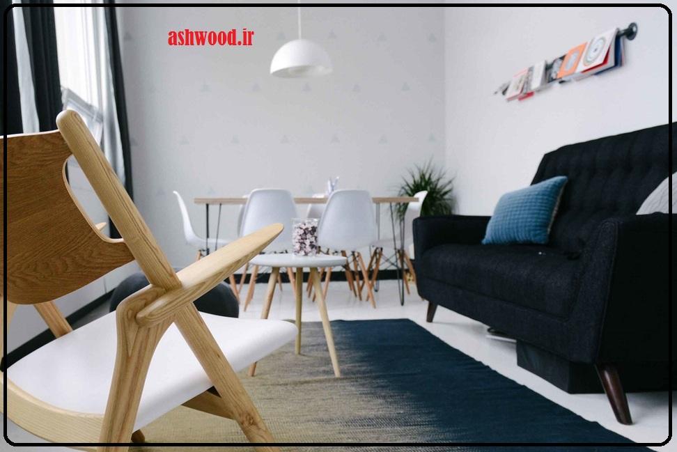 نمونه کار دکوراسیون چوبی ، رنگ کاری چوب