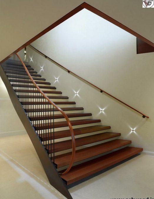 ایده پله های مدرن با نورپردازی چشمگیر