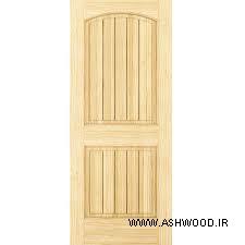 درب چوبی ساخته شده بوسیله طرح لمبه v  شکل , لمبه چوبی در ساخت درب های تمام چوب