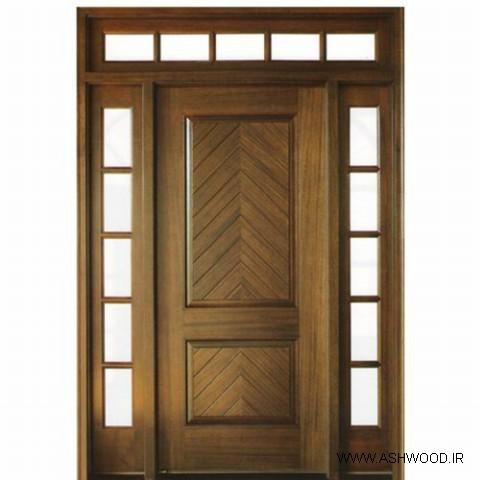 مدل درب چوبی ورودی سبک مدرن