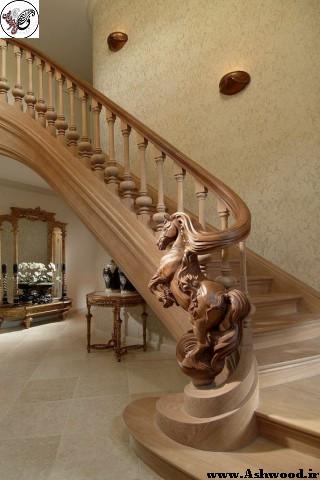 ساخت پله چوبی , منبت کاری ایستگاه پله , اجرای سازه های لوکس و شگفت انگیز