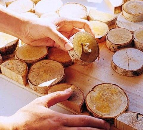 دیوارکوب چوب صنوبر