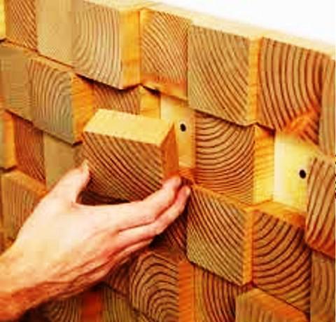 دیوارکوب و ایجاد یک تابلو با کله چوب
