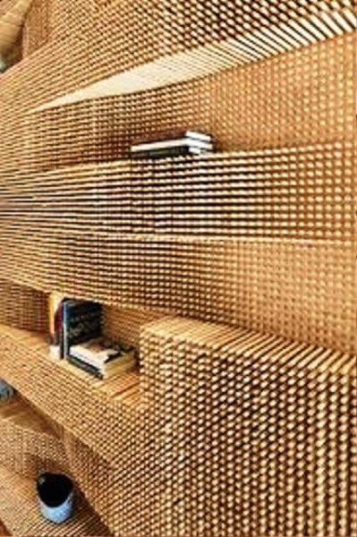 دکوراسیون چوبی منزل ، دیوارکوب و لمبه