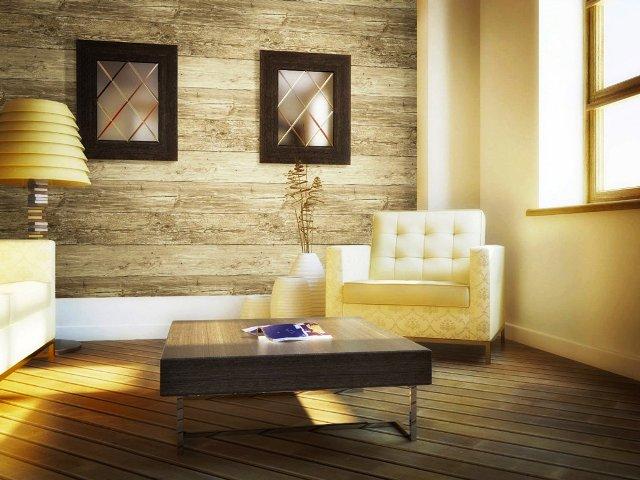دیوار کوب چوبی