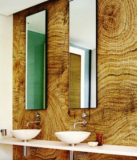 دیوار طرح چوب
