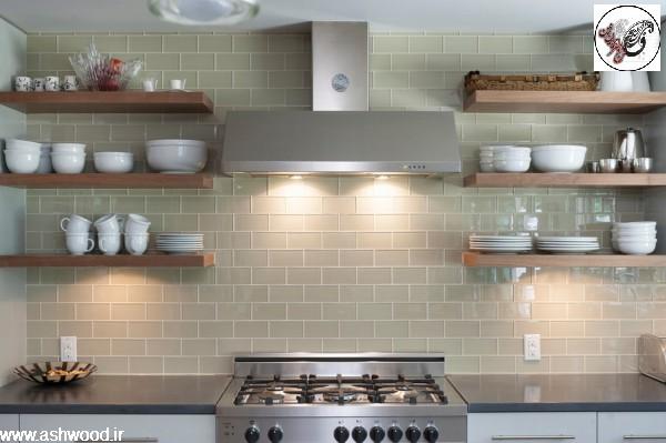 تلفیق دکوراسیون دیوار آشپزخانه و صفحه کابینت