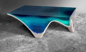 میز سه بعدی با الهام از زیبایی اقیانوس ها