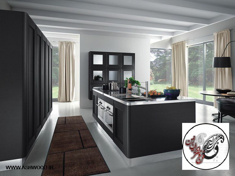 Wonderful wallpaper of modern kitchen