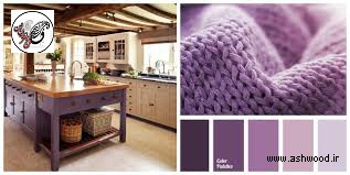 ست کردن رنگ کف کرم با کابینت آشپزخانه