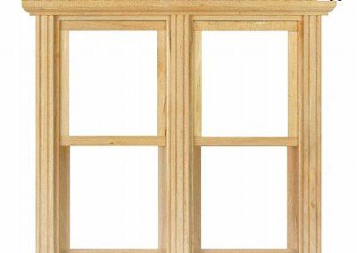 قاب و طاقچه پنجره چوبی