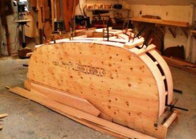 خمکاری چوب بوسیله قالب چندلایی در کارگاه نجاری