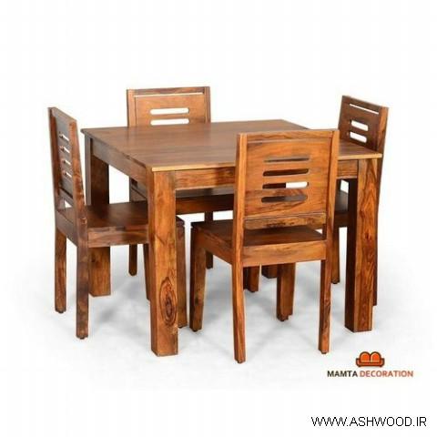 میز و صندلی ناهارخوری سبک روستیک