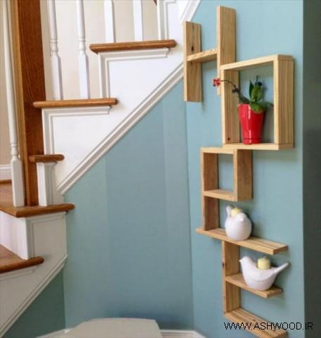 قفسه و شلف چوبی