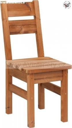 صندلی ساده تمام چوب ترمووود