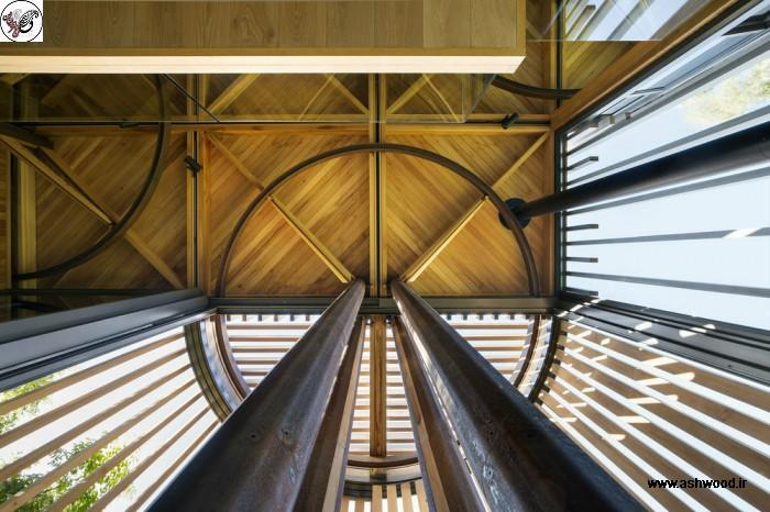 ساختمان چوبی جنگلی سبک مدرن