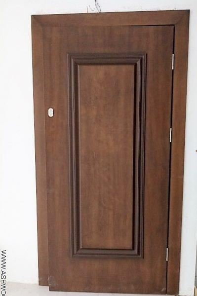 درب روکشی رنگ گردویی برج ساعی
