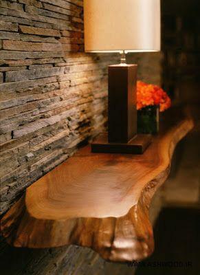شلف چوبی تخته اسلب چوب