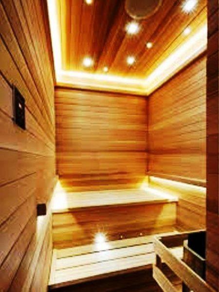 رنگ چوب سونای خشک