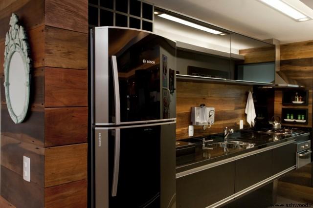 ایده های زیبا برای کابینت آشپزخانه چوبی