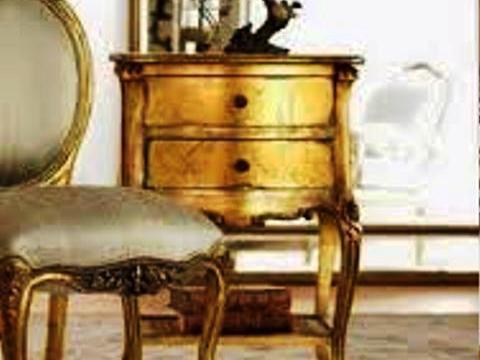 ذراور و صندلی ورق طلا