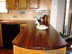 رنگ کابینت آشپزخانه چوبی