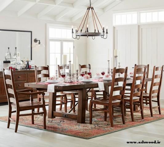 میز و صندلی ناهارخوری , میز و صندلی آشپزخانه , دکوراسیون سبک روستیک