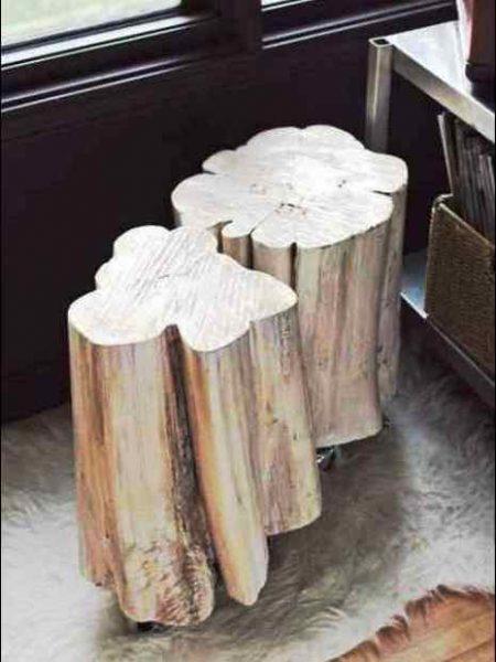 رنگ کاری چوب ، سیلر و کیلر و پلی استر روی تنه درخت