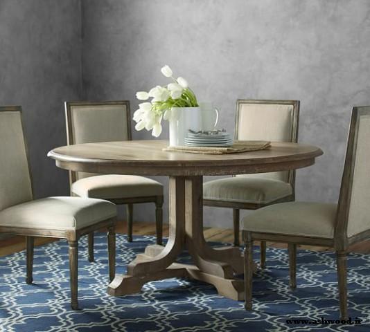 میز و صندلی آشپزخانه , دکوراسیون سبک روستیک