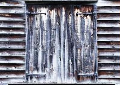 پنجره به سبک روستیک چوبی - پنجره قدیمی