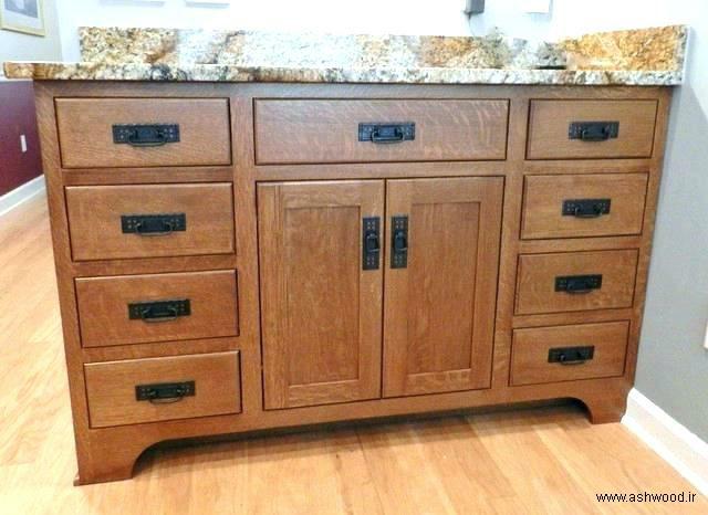 دکوراسیون چوبی حمام، سینک چوبی