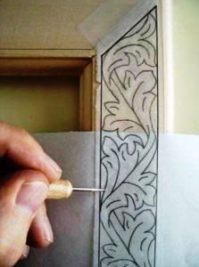 هنر منبت و گره سازی روی روی چوب