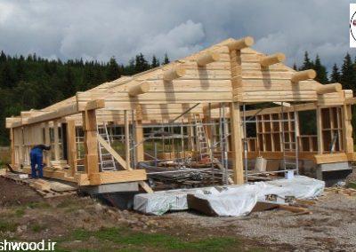 سااخت کلبه و ساختمان چوبی , ساخت سازه های تیر و تیرچه چوبی