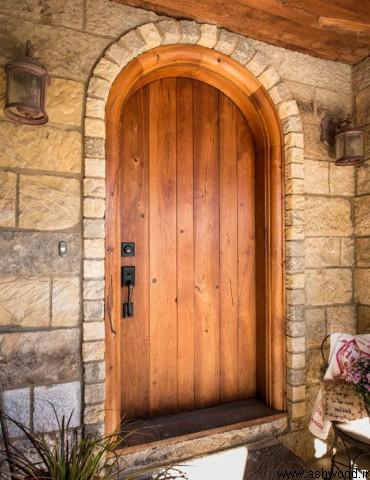 درب چوب کاج سبک روستیک