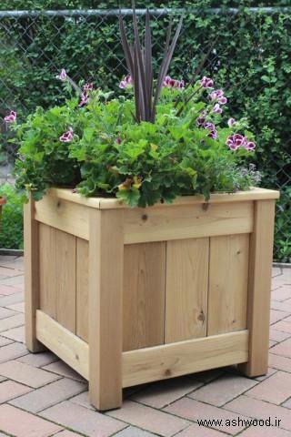 ایده های جالب گلدان چوبی نردبانی، ساخت گلدان چوبی