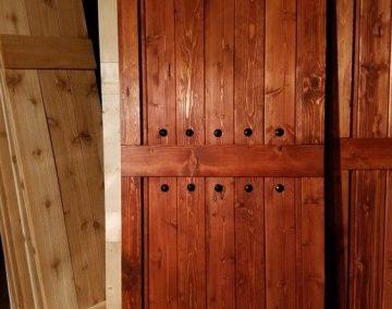 درب چوب کاج روسی , درب های تمام چوب از چوب کاج