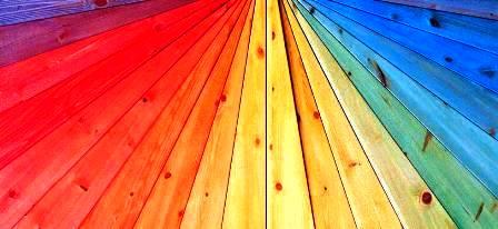 رنگ چوب ، رنگکاری و پوست پولیش چوب