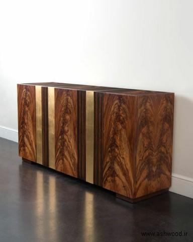 کنسول چوبی الهام گرفته از سبک مدرنیستی فرانک لوید رایت