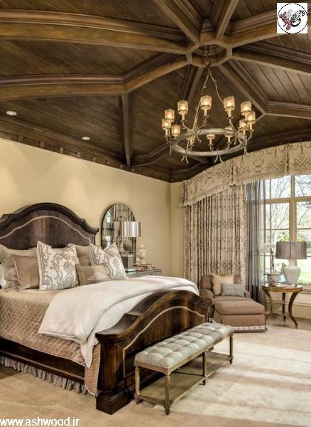 اتاق خواب دکوراسیون چوبی , دکوراسیون سبک کلاسیک ، کابینت آشپزخانه ، راه پله ، ایده های خلاقانه دکوراسیون٬