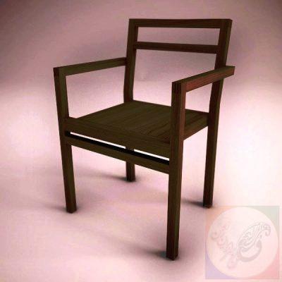 صندلی چوبی دکوراتیو