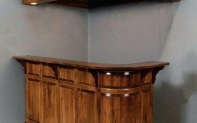 ایده میز بار , طرح کلاسیک و لوکس چوبی میز بار 2019