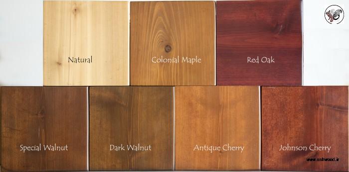 رنگ چوب , پلی استر