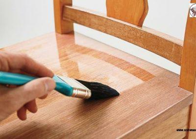 رنگ کاری کمد تمام چوب , رنگ کاری چوب , رنگ و رزین پلی استر پولیش